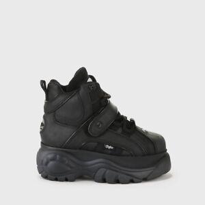 sale retailer 475ff 5314f Details zu Buffalo London Classic Boots Shoes Plateau Schuhe 90er Schwarz  1348-14
