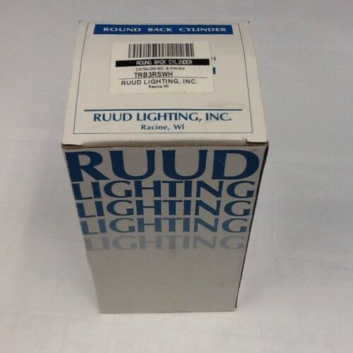 white RUUD LIGHTING TRB3RSWH round back