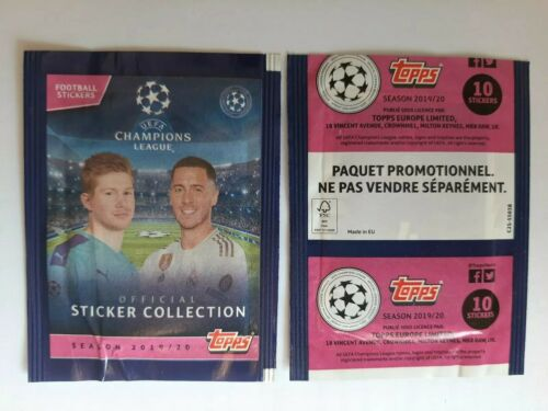1X PACKET TOPPS CHAMPIONS LEAGUE 2020 POCHETTE BUSTINA 10 stickers PROMO PACKETS