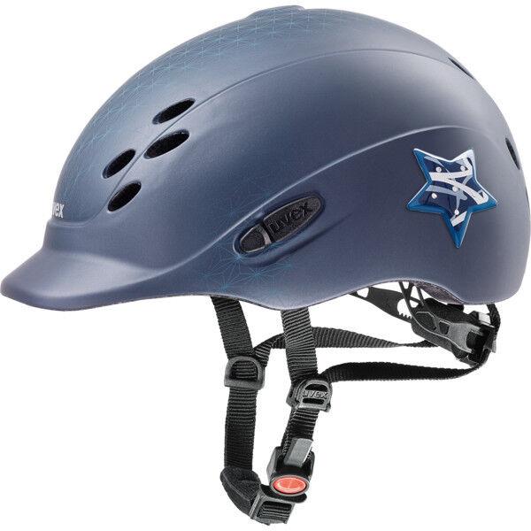 Uvex MONTALA CASCO Onyxx GLAMOUR blu MAT BAMBINI MONTALA casco con stella e glitter