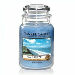 ☆☆BAY BREEZE☆☆LARGE YANKEE CANDLE JAR~ FAST FREE SHIPPING☆☆GREAT SCENT