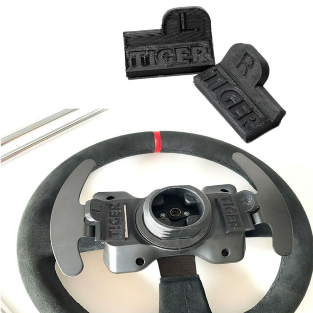 2PCS L+R Magnetic Paddle Kit for Thrustmaster T300 / 599XX EVO 30 Steering Wheel