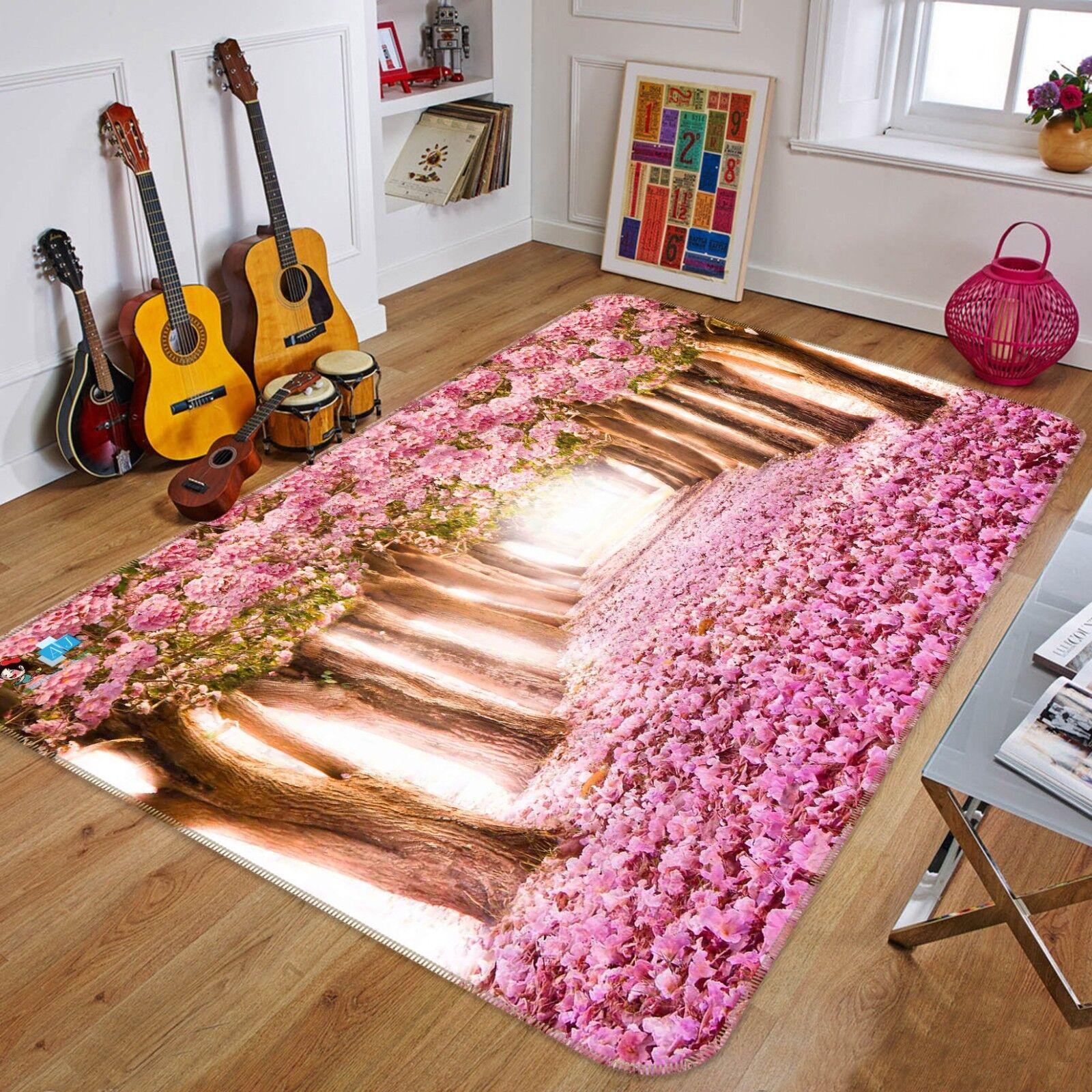 Bosque flores 3D 899 Alfombra Colchoneta Antideslizante Alfombra De Sala Elegante De Calidad Foto Alfombra