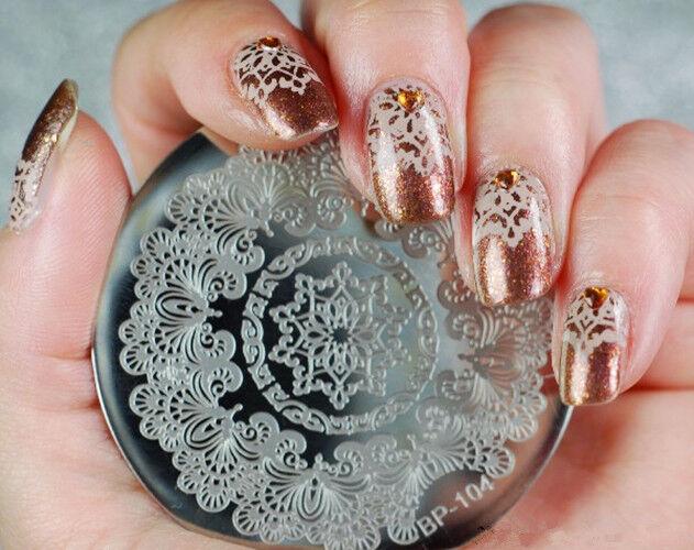 Born Pretty Nail Art Stamping Image Plate Stencil Arabesque Design ...