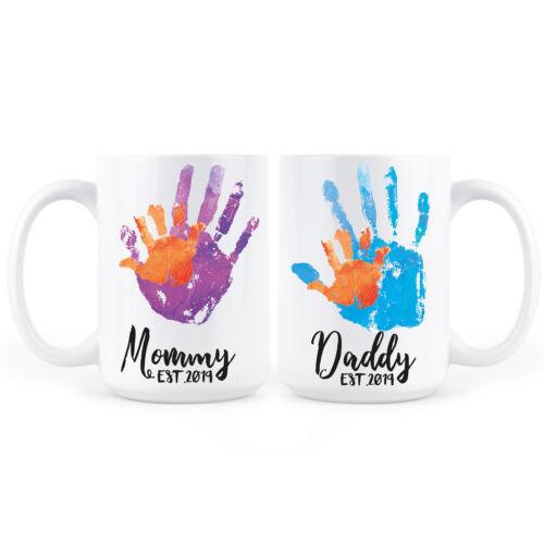 New Mom Dad Mugs Mom and Dad est 2019 Coffee Mug Set