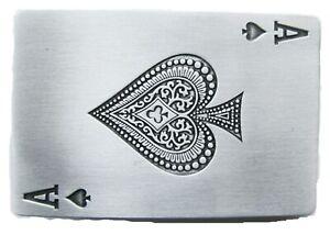 Ace Of Spades Ii Boucle De Ceinture Poker Gambler Joueur Pique As Carte Casino De La Chance