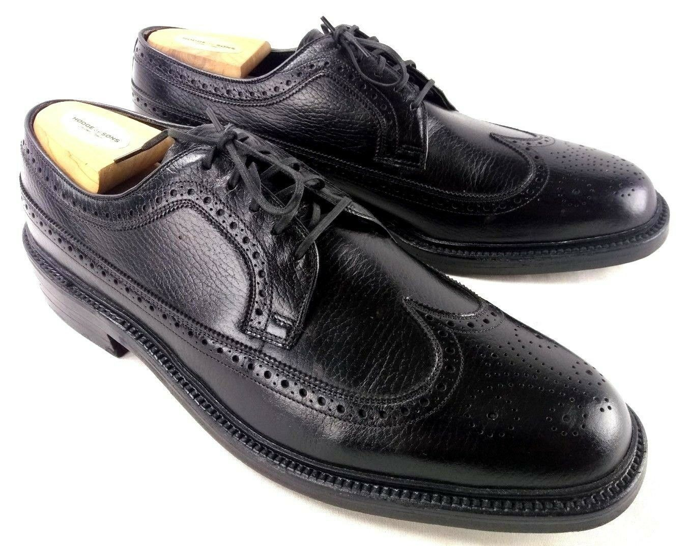 Wonder Arch Mens Sz 11.5 B 2A nero Wingtip Oxford Full Leather Lined 208-1