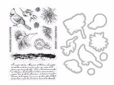 """Hero Arts """"Vintage Post"""" Christmas Holiday Clear Stamp & Frame Cuts Die Bundle"""