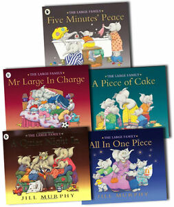 Large-Family-Collection-Jill-Murphy-5-Books-Set-A-Piece-of-Cake-Quiet-Night-in