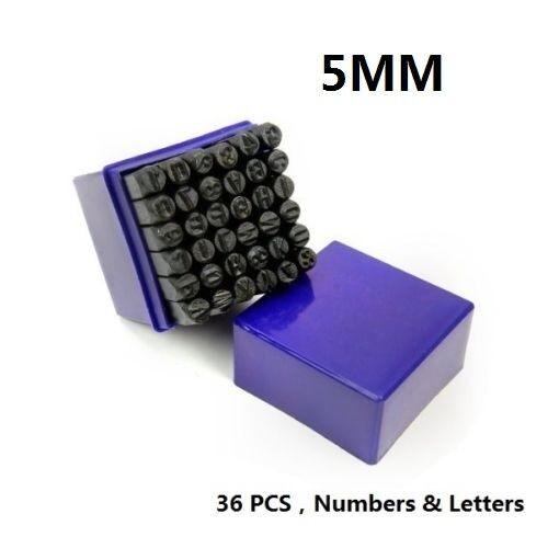 5//16 Inch 8mm Letter and Number Stamp Set 36pcs 40Cr Alloy Steel Metal Stamp Number /& Letter Punch Set in a Wooden case