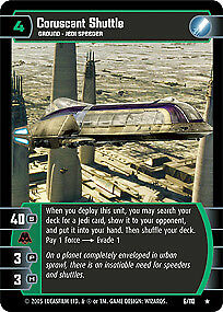 Star Wars TCG: Coruscant Shuttle - Foil [Moderately Played] Revenge of the Sith