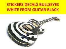 STICKERS BULLSEYES WHITE FROM GUITAR LES PAUL BLACK VISIT MY STORE CUSTOM GUITAR