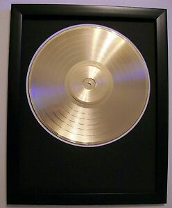 blank gold plated lp album record disc vinyl award trophy to custom