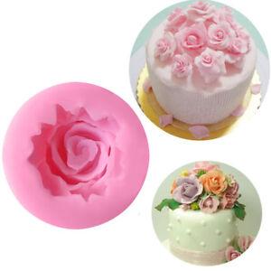 JohnJohnsen Petali di Fiori Rosa trasformano la Torta di Zucchero Cioccolato Decorativo Stampo in Silicone Articolo familiare della Famiglia Rosa di Uso Quotidiano