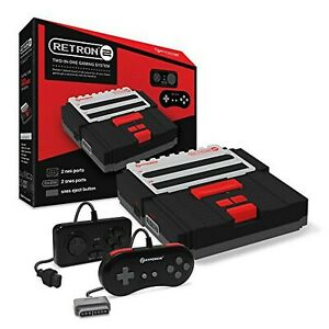 Hyperkin-RetroN-2-Gaming-Console-for-Super-NES-NES-Black-video-game