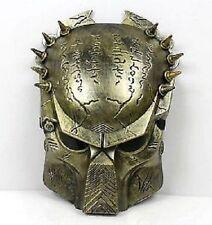 Mens Boys Unisex Gold Predator Movie Fancy Dress Face Mask Halloween Horror