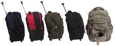 TROLLEY bagaglio a mano borsone viaggio cabina aereo borsa sport asta 2 ruote