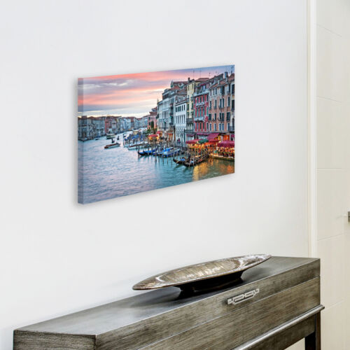 SC560 Venise Sunrise Italie Rétro paysage Toile Wall Art Photos Grand Imprime