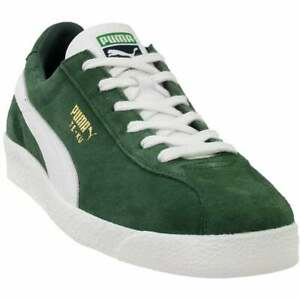 puma teku prime lace up mens sneakers shoes casual green