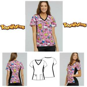 92b0ba124db New Women's Tooniform V-Neck Knit Panel Top In Color Me Hello Kitty ...