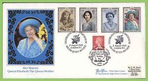 Conjunto-de-Graham-Brown-1990-95-reina-madre-sobre-Oficial-Primer-Dia-Cubierta-Doble-cancelar-London