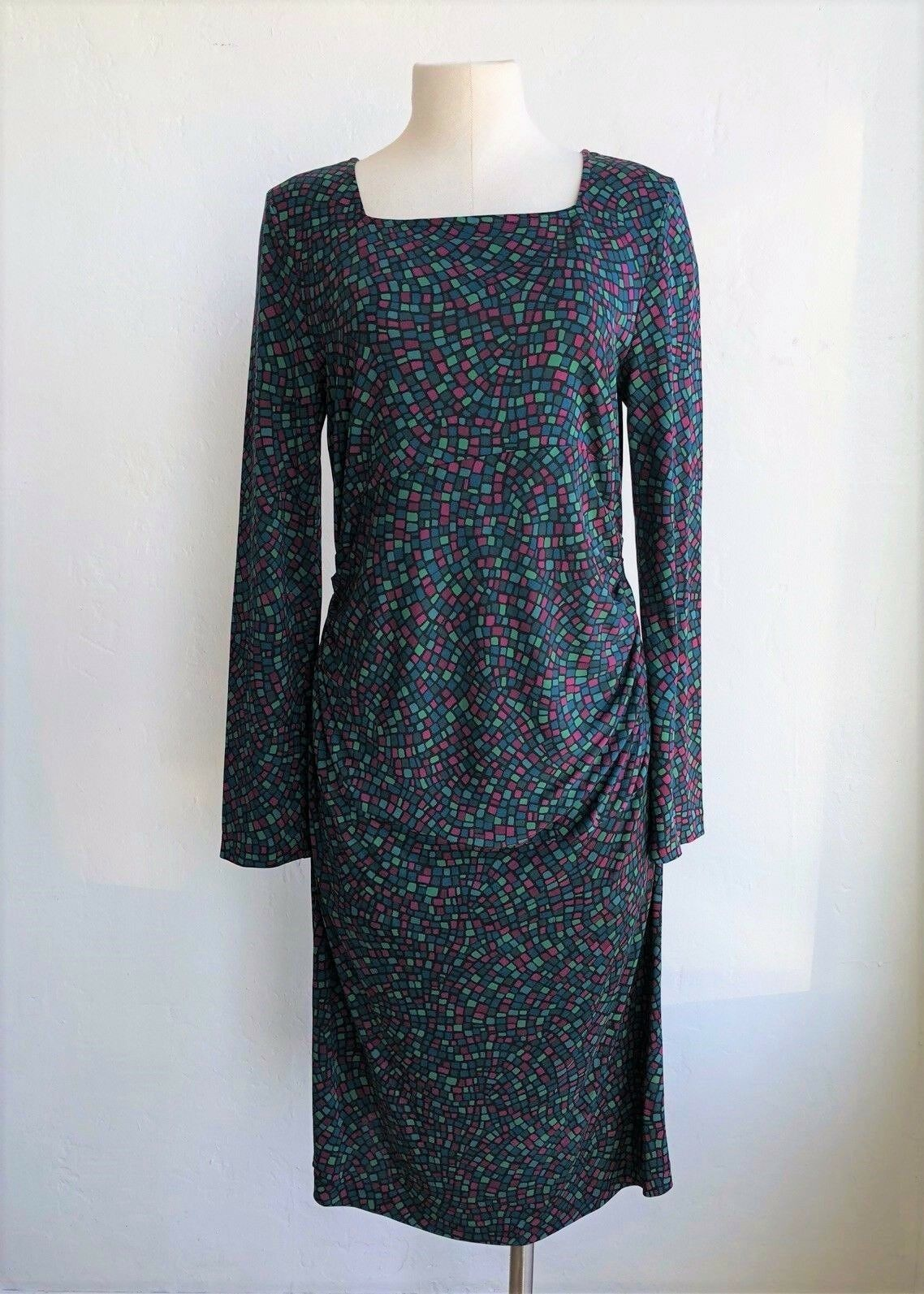 DIANE VON FURSTENBERG Silk Silk Silk Teal Green Mid-Length Dress Medium  498 c3432b