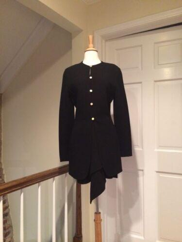 Vtg Donna Karan Black Label Black Couture Suit wit
