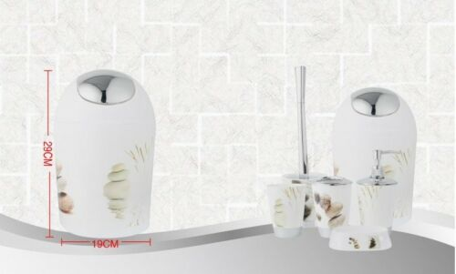 6Pc salle de bains set accessoire gobelet brosse à dents titulaire bin Soapdish//distributeur