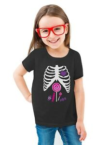 7748636c6c Xray Pink Candy Skeleton - Halloween Kids Toddler/Kids Girls' Fitted ...