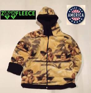 ZooFleece-Winter-Yellow-Angels-Kids-Boys-Girls-Jacket-Hood-Coat-Reversible-Warm