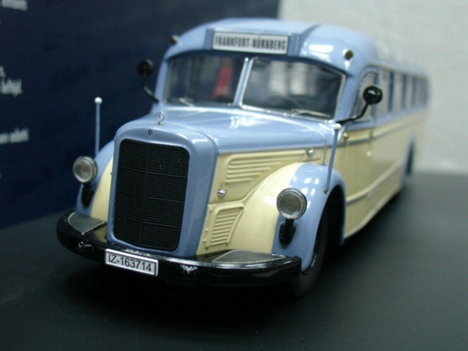 WOW estremamente raro MERCEDES o 6600 Bus Pastello Blu Avorio 1 43 Schuco-Minichamps