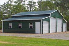 Steel Building Metal Pole Barn 4 Car Garage Workshop Rv Cover Carport 44 X 31