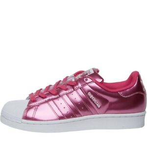 Details about Ladies ADIDAS Originals Superstar Trainers Metallic PinkWhite RRP £84.99