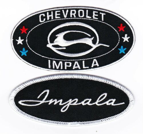 CHEVY IMPALA SEW//IRON ON PATCH EMBROIDERED BADGE CHEVROLET LOWRIDER SS 409
