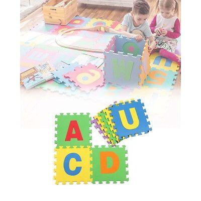 Tappeto componibile puzzle colorato con numeri e lettere 10 pz 30x30cm