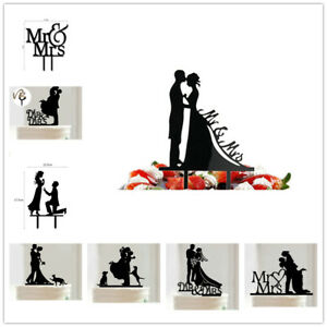 Bride And Groom Party Decor Wedding Cake Topper Mr Mrs Acrylic Safe