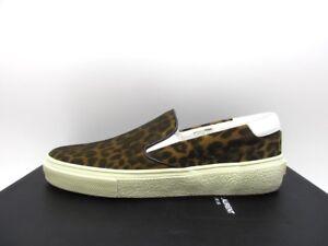 62122137732 YSL Saint Laurent Womens Skate 20 Slip On Leopard Leather Sneakers ...
