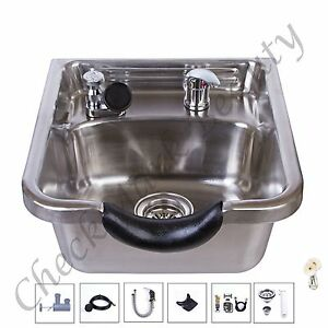Stainless steel shampoo sink salon spa beauty equipment for A and m salon equipment
