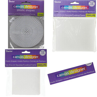 Pack Of 10 Or Pack Of 2 Pieces Plastic Canvas By Darice Circles or Squares