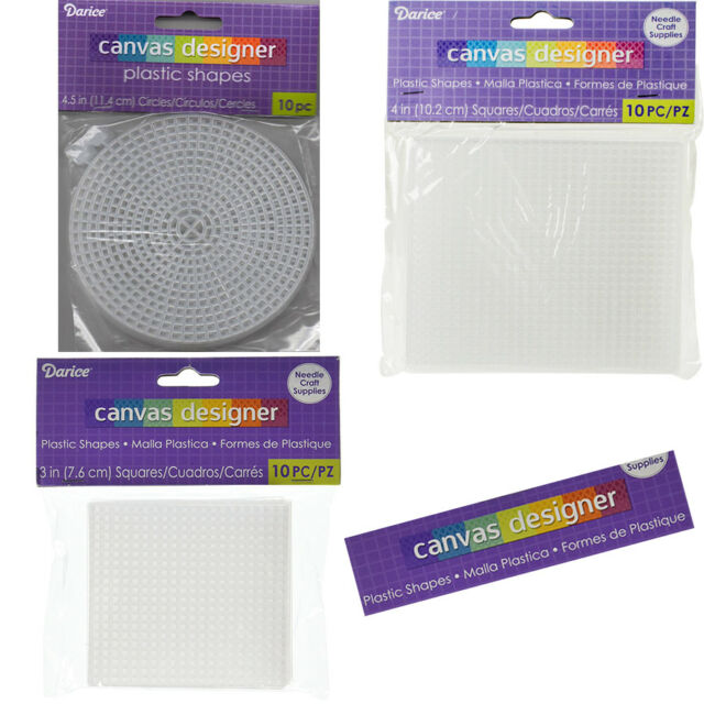 """/""""Plastic Canvas Shape 7 Count 6/""""/""""-Circle Clear Set Of 12/"""""""