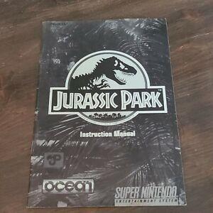 Jurassic Park Instruction Manual ONLY! (SNES, Super Nintendo) Booklet