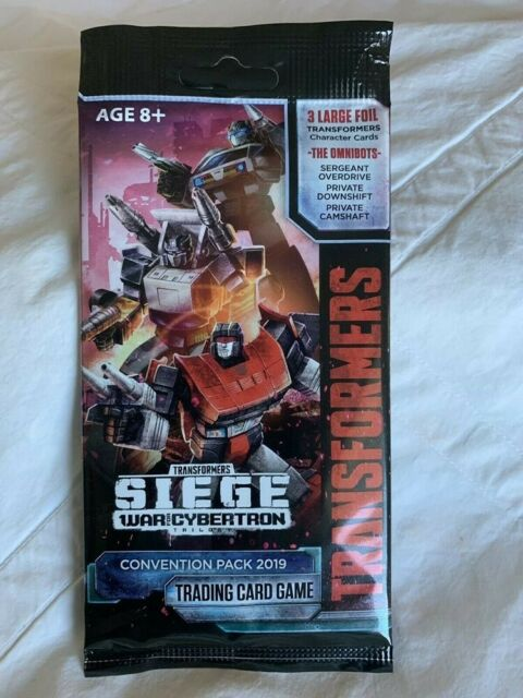 TRANSFORMERS TRADING CARD GAME SDCC 2019 SIEGE WAR CYBERTRON CONVENTION PACK NEW