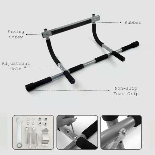 Door Pull Up Bar Chin Up SitUp Dips  Gym Fitness Strength Workout Door Bars 4in1