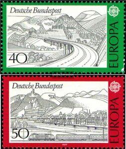 BRD-BR-Deutschland-934-935-kompl-Ausgabe-postfrisch-1977-Europa