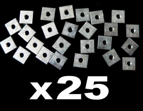 zing 3mm 25 x écrous carré 8 x 8mm M3