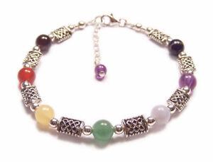 Sterling-silver-chakra-bracelet-Celtic-gemstones-gem-stone-amethyst-lapis-garnet