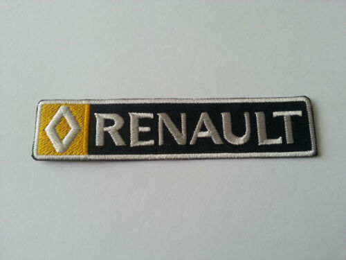 RENAULT a THIN STRIPE IRON ON PATCH: MOTORSPORTS MOTOR RACING CAR SEW