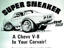 1965-1969 CHEVY CORVAIR V8 CROWN CONVERSION KIT AD -283/350/383/engine/Corv-8