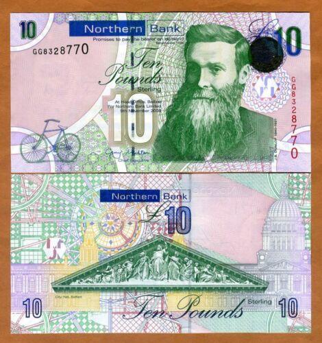 UNC P-210 2008 Ireland Northern Bank 10 pounds