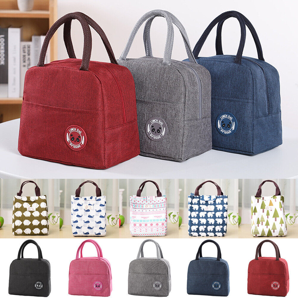 Kids /& Adults Stripes Desgin Waterproof Insulated Thermal Cooler Lunch Bag Tote